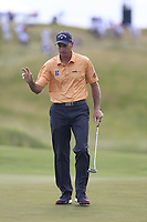 Jim Furyk (USA) putts on the 3rd green during Friday's Round 2 of the 117th U.S. Open Championship 2017 held at Erin Hills, Erin, Wisconsin, USA. 16th June 2017.<br /> Picture: Eoin Clarke | Golffile<br /> <br /> <br /> All photos usage must carry mandatory copyright credit (&copy; Golffile | Eoin Clarke)