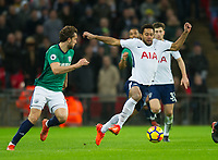 Tottenham's Mousa Dembele during the Premier League match between Tottenham Hotspur and West Bromwich Albion at Wembley Stadium, London, England on 25 November 2017. Photo by Andrew Aleksiejczuk / PRiME Media Images.