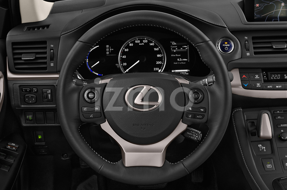 Car pictures of steering wheel view of a 2018 Lexus CT Executive Line 5 Door Hatchback