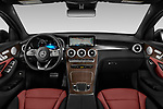 Stock photo of straight dashboard view of 2020 Mercedes Benz GLC-Coupe GLC300 5 Door SUV Dashboard