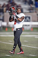 Arkansas State defensive back Frankie Jackson (6) before NCAA Football game kickoff, Thursday, November 20, 2014 in San Marcos, Tex. Texas State defeated Arkansas State 45-27. (Mo Khursheed/TFV Media via AP Images)