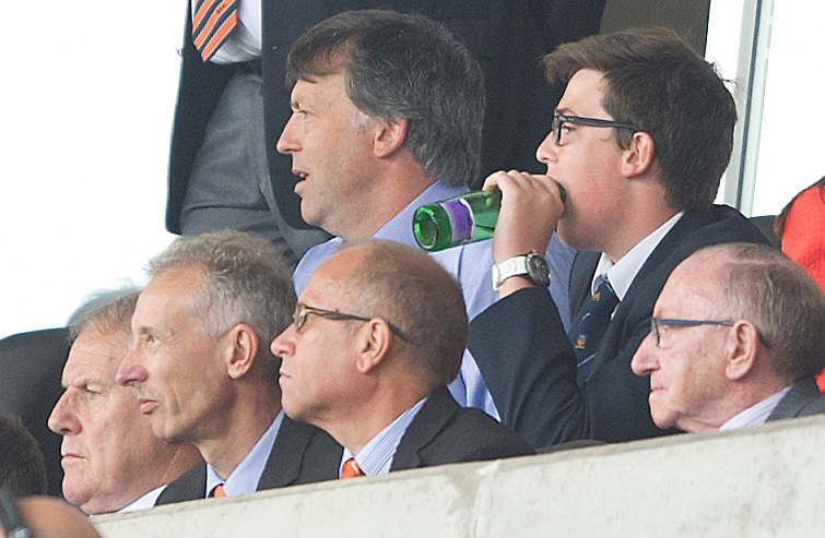 Blackpool club owner Karl Oyston watches his team gain their first loint of the season with a 0-0 draw at home against Wolverhampton Wanderers<br /> <br /> Photographer Stephen White/CameraSport<br /> <br /> Football - The Football League Sky Bet Championship - Blackpool v Wolverhampton Wanderers - Saturday 13th September 2014 - Bloomfield Road - Blackpool<br /> <br /> &copy; CameraSport - 43 Linden Ave. Countesthorpe. Leicester. England. LE8 5PG - Tel: +44 (0) 116 277 4147 - admin@camerasport.com - www.camerasport.com