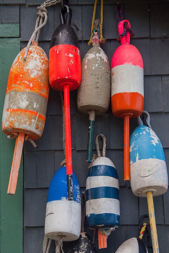 Lobster Buoys, Great Island, Castine, Maine, US