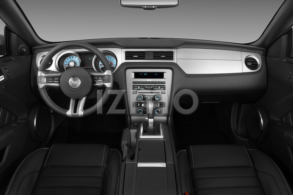 Straight dashboard view of a 2011 ford mustang gt premium convertible