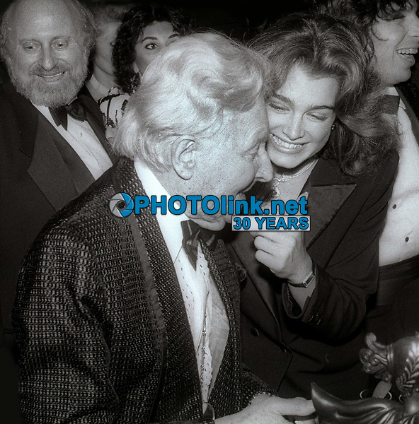 Erte and Brooke Shields 1984<br /> Photo By Jesse Nash/PHOTOlink