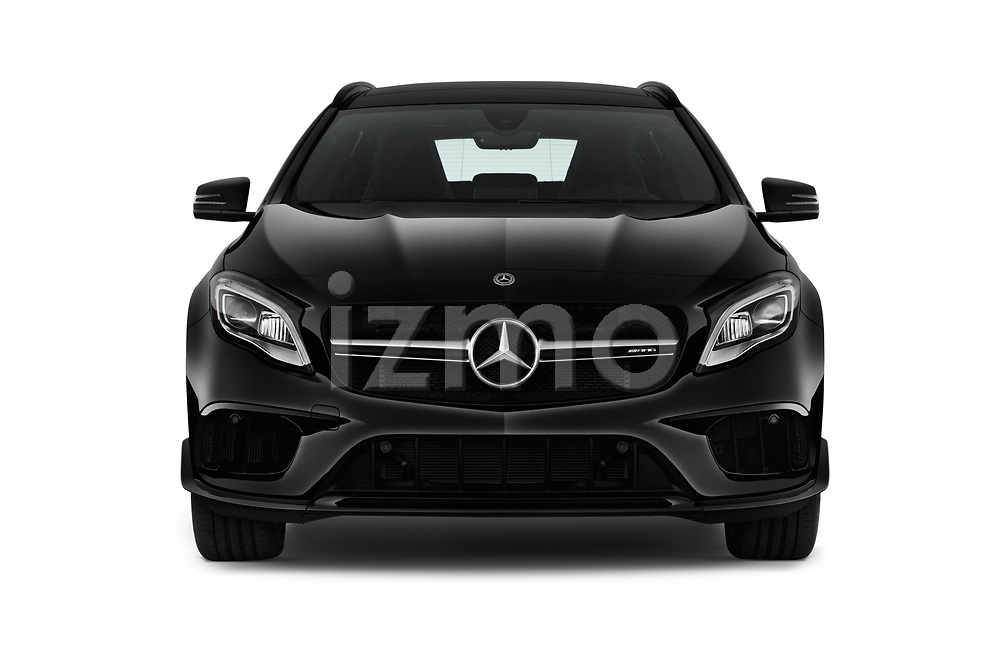 Car photography straight front view of a 2018 Mercedes Benz GLA AMG 45 5 Door SUV