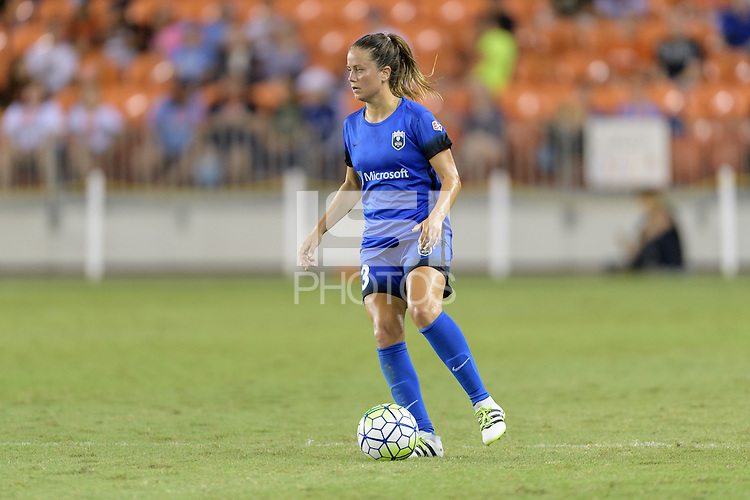 Houston, TX - Sunday Sept. 25, 2016: Lauren Barnes during a regular season National Women's Soccer League (NWSL) match between the Houston Dash and the Seattle Reign FC at BBVA Compass Stadium.