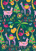 Patrick, GIFT WRAPS, GESCHENKPAPIER, PAPEL DE REGALO, Christmas Santa, Snowman, Weihnachtsmänner, Schneemänner, Papá Noel, muñecos de nieve, paintings+++++,GBIDMK565,#gp#,#x# ,lama,lamas