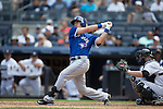 Cliff Pennington (Blue Jays),<br /> AUGUST 9, 2015 - MLB :<br /> Cliff Pennington of the Toronto Blue Jays bats during the Major League Baseball game against the New York Yankees at Yankee Stadium in the Bronx, New York, United States. (Photo by Thomas Anderson/AFLO) (JAPANESE NEWSPAPER OUT)