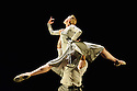 London, UK. 18.06.2015. English National Ballet presents CHOREOGRAPHICS, an evening of new work from emerging and developing choreographers, in the Lilian Baylis studio at Sadler's Wells. This piece is GIVE MY LOVE TO THE SUNRISE, choreographed by Morgann Runacre-Temple. The dancers are: Tiffany Hedman, Daniel Kraus. Photograph © Jane Hobson.