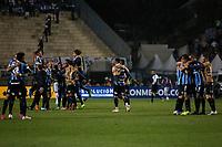 SÃO PAULO, SP 27.08.2019: PALMEIRAS-GRÊMIO - Jogadores comemoram a classificação. Palmeiras e Grêmio, durante partida válida pelas quartas de final da Libertadores, no Pacaembu, zona oeste da capital, na noite desta terça-feira (27). (Foto: Ale Frata/Código19)