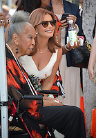 LOS ANGELES, CA. August 11, 2016: Roma Downey &amp; Della Reese at Hollywood Walk of Fame Star ceremony for actress Roma Downey. <br /> Picture: Paul Smith / Featureflash