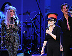 Yoko Ono,Perry Farrell and Lady Gaga perform at We are Plastic Ono Band on night 2 at The Orpheum Theatre in Downtown Los Angeles, California on October 02,2010                                                                   Copyright 2010  Debbie VanStory / RockinExposures