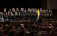 The Occidental College Glee Club.<br /> The class of 2023 are welcomed to Occidental College by trustees, faculty and staff in Thorne Hall on Aug. 27, 2019 during Oxy's 132th Convocation ceremony, a tradition that formally marks the start of the academic year and welcomes the new class.<br /> (Photo by Marc Campos, Occidental College Photographer)