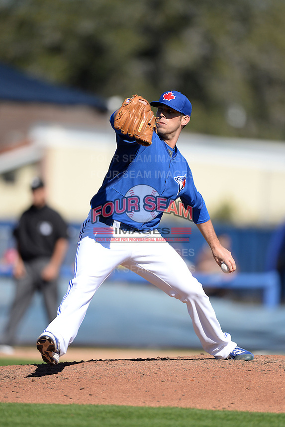 Toronto Blue Jays pitcher Sean Nolin (35) during a spring training game against the Pittsburgh Pirates on February 28, 2014 at Florida Auto Exchange Stadium in Dunedin, Florida.  Toronto defeated Pittsburgh 4-2.  (Mike Janes/Four Seam Images)