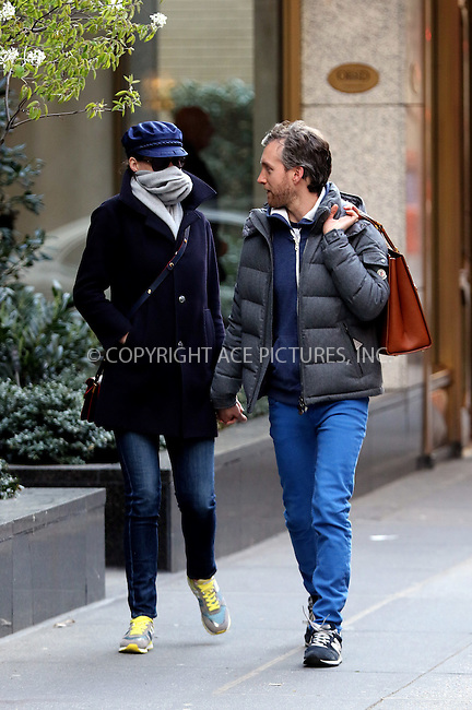 WWW.ACEPIXS.COM<br /> <br /> April 23 2015, New York City<br /> <br /> Actress Anne Hathaway and her husband Adam Shulman walk in the East Village on April 23 2015 in New York City<br /> <br /> By Line: Zelig Shaul/ACE Pictures<br /> <br /> <br /> ACE Pictures, Inc.<br /> tel: 646 769 0430<br /> Email: info@acepixs.com<br /> www.acepixs.com