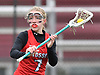 Katelyn Igneri #7 of Syosset looks to make a pass during a Nassau County varsity girls lacrosse game against host Garden City High School on Saturday, April 1, 2017. Garden City won by a score of 13-9. (Note to editor: Game was shot in place of assigned Farmingdale-North Shore matchup, which I learned was canceled upon arriving at Farmingdale HS)