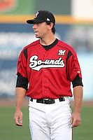 Nashville Sounds pitcher Mike McClendon #14 before a game against the Omaha Storm Chasers at Greer Stadium on April 25, 2011 in Nashville, Tennessee.  Omaha defeated Nashville 2-1.  Photo By Mike Janes/Four Seam Images
