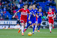 Muhamed Besic of Middlesbrough during the Sky Bet Championship match between Cardiff City and Middlesbrough at the Cardiff City Stadium, Cardiff, Wales on 17 February 2018. Photo by Mark Hawkins / PRiME Media Images.