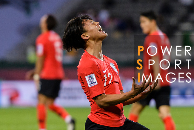 Lee Seungwoo of South Korea reacts during the AFC Asian Cup UAE 2019 Round of 16 match between South Korea (KOR) and Bahrain (BHR) at Rashid Stadium on 22 January 2019 in Dubai, United Arab Emirates. Photo by Marcio Rodrigo Machado / Power Sport Images