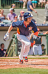 22 March 2015: Houston Astros outfielder Alex Presley hits a triple in the second inning of Spring Training action against the Pittsburgh Pirates at Osceola County Stadium in Kissimmee, Florida. The Astros defeated the Pirates 14-2 in Grapefruit League play. Mandatory Credit: Ed Wolfstein Photo *** RAW (NEF) Image File Available ***