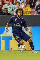 Landover, MD - July 23, 2019: Real Madrid Marcelo (12) in action during the match between Arsenal and Real Madrid at FedEx Field in Landover, MD.   (Photo by Elliott Brown/Media Images International)