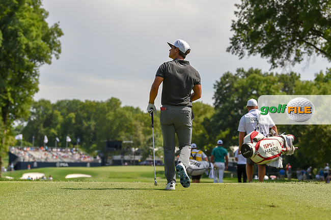 Thorbjorn Olesen (DEN) heads down 16 during 1st round of the 100th PGA Championship at Bellerive Country Club, St. Louis, Missouri. 8/9/2018.<br /> Picture: Golffile   Ken Murray<br /> <br /> All photo usage must carry mandatory copyright credit (© Golffile   Ken Murray)