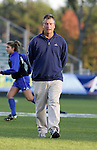 Duke head coach Robbie Church on Friday, November 4th, 2005 at SAS Stadium in Cary, North Carolina. The University of North Carolina Tarheels defeated the Duke University Blue Devils 2-1 in their Atlantic Coast Conference Tournament Semifinal game.
