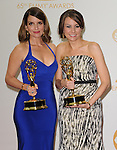 Tina Fey and Tracey Wigfield attends 65th Annual Primetime Emmy Awards - Arrivals held at The Nokia Theatre L.A. Live in Los Angeles, California on September 22,2012                                                                               © 2013 DVS / Hollywood Press Agency