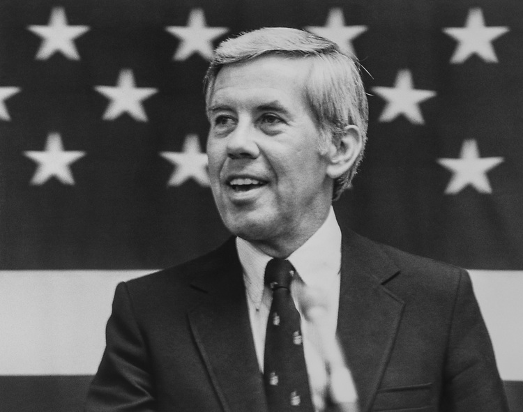 Sen. Richard Lugar, R-Ind., in 1989. (Photo by CQ Roll Call via Getty Images)