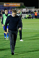AFC Wimbledon manager, Neal Ardley cuts a disappointed figure during the Sky Bet League 1 match between AFC Wimbledon and MK Dons at the Cherry Red Records Stadium, Kingston, England on 22 September 2017. Photo by Carlton Myrie / PRiME Media Images.