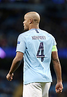 Manchester City's Vincent Kompany<br /> <br /> Photographer Rich Linley/CameraSport<br /> <br /> UEFA Champions League Group F - Manchester City v TSG 1899 Hoffenheim - Wednesday 12th December 2018 - The Etihad - Manchester<br />  <br /> World Copyright © 2018 CameraSport. All rights reserved. 43 Linden Ave. Countesthorpe. Leicester. England. LE8 5PG - Tel: +44 (0) 116 277 4147 - admin@camerasport.com - www.camerasport.com