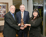 Pictured at the Limerick Sports Partnership Sports Awards were: Winner Anthony Hayden, President of UL Don Barry  and Breda Deedigan<br /> Picture  Credit Brian Gavin Press 22