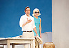 Sunset at the Villa Thalia <br /> by Alexi Kaye Campbell<br /> at Dorfman Theatre, National Theatre, Southbank, London, Great Britain <br /> <br /> 31st May 2016 <br /> press photocall <br />  <br /> <br /> directed by Simon Godwin<br />  <br /> <br /> <br /> <br /> Elizabeth McGovern as June <br /> <br /> Ben Miles as Harvey <br /> <br />  <br /> <br /> Photograph by Elliott Franks <br /> Image licensed to Elliott Franks Photography Services