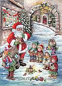 Interlitho, Dani, CHRISTMAS SANTA, SNOWMAN, nostalgic, paintings, santa, bag, kids(KL5657,#X#) Weihnachten, nostalgisch, Navidad, nostálgico, illustrations, pinturas