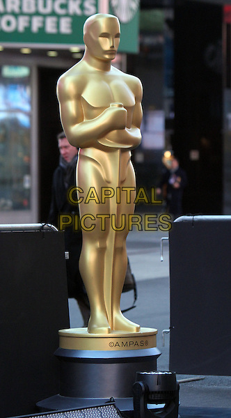 NEW YORK, FEBRUARY 28: Oscar Statue pictured on Good Morning America on February 28, 2014 in New York City. <br /> CAP/MPI/RW<br /> &copy;RW/ MediaPunch/Capital Pictures