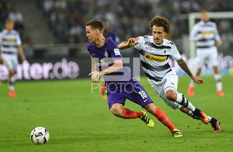 Football : Germany -1. Bundesliga  2016/17 <br /> Borussia Moenchengladbach Vs Werder Bremen<br /> 17/09/2016- Niklas Moisander  (SV Werder Bremen) and Fabian Johnson (Borussia Moenchengladbach) .<br /> .