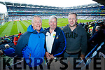 Pictured at the Kerry v Mayo all Ireland semi-final in Croke Park, on Sunday last, were l-r: Johnny Daly and John Lenihan (Killarney) Paul O'Sullivan (Killorglin).