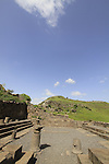 Golan Heights, ruins of Gamla ancient Synagogue