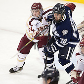 Steven Whitney (BC - 21), Dalton Speelman (UNH - 10) - The Boston College Eagles and University of New Hampshire Wildcats tied 4-4 on Sunday, February 17, 2013, at Kelley Rink in Conte Forum in Chestnut Hill, Massachusetts.