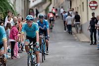Jakob Fuglsang (DEN/Astana) at the stage start<br /> <br /> Stage 20: Arenas de San Pedro to Plataforma de Gredos (190km)<br /> La Vuelta 2019<br /> <br /> ©kramon