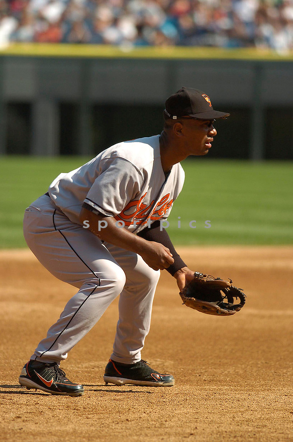 Melvin Mora, of the Baltimore Orioles, during their game against the Chicago White Sox on July 4, 2006 in Chicago.....Chris Bernacchi / SportPics