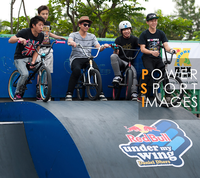 Action during the Red Bull 'Under My Wing' event with athlete Daniel Dhers in Hong Kong on 26 November 2011. © Raf Sanchez / Red Bull