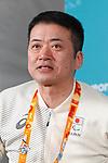 Hideki Arai (JPN), MARCH 8, 2018 : Japanese Nordic Skiing team Press Conference at Paralympic Village during the PyeongChang 2018 Paralympics Winter Games in Pyeongchang, South Korea. (Photo by Sho Tamura/AFLO SPORT)