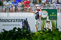 Tommy Fleetwood (ENG) looks over his tee shot on 10 during Saturday's round 3 of the World Golf Championships - Bridgestone Invitational, at the Firestone Country Club, Akron, Ohio. 8/5/2017.<br /> Picture: Golffile | Ken Murray<br /> <br /> <br /> All photo usage must carry mandatory copyright credit (&copy; Golffile | Ken Murray)