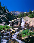 Glacier Creek, waterfall, summer, Rocky Mountain National Park, Colorado