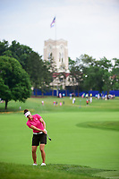 Karen Paolozzi (USA) chips on to 10 during Friday's round 2 of the 2017 KPMG Women's PGA Championship, at Olympia Fields Country Club, Olympia Fields, Illinois. 6/30/2017.<br /> Picture: Golffile | Ken Murray<br /> <br /> <br /> All photo usage must carry mandatory copyright credit (&copy; Golffile | Ken Murray)
