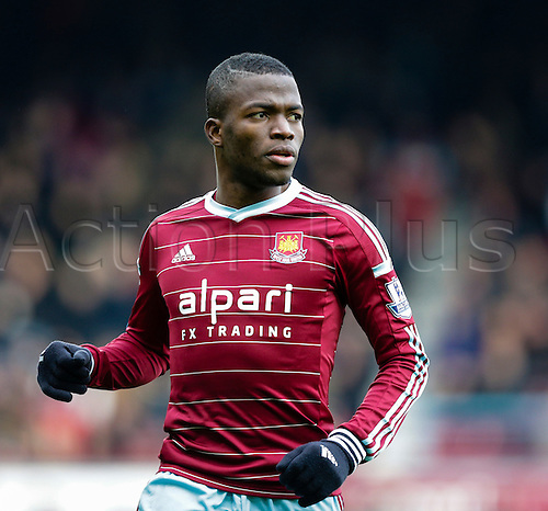 18.01.2015.  London, England. Barclays Premier League. West Ham versus Hull City.  West Ham United's Enner Valencia