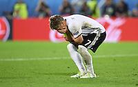 FUSSBALL EURO 2016 VIERTELFINALE IN BORDEAUX Deutschland - Italien      02.07.2016 Bastian Schweinsteiger (Deutschland) ist nach seinen verschossenen Elfmeter enttaeuscht