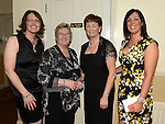 Ann Harrington Treasurer, Kay O'Neill Vice Chairperson, Mary Connor Chairperson and Lorraine Young Secretary pictured at St Annes Camogie Club annual dinner in the Grove Hotel Dunleer. Photo:Colin Bell/pressphotos.ie